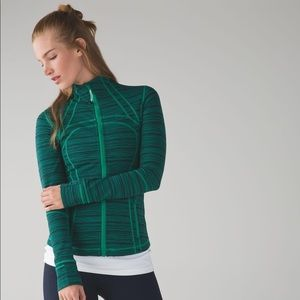 Lululemon Define Jacket Cyber Jungle Green Zip Up